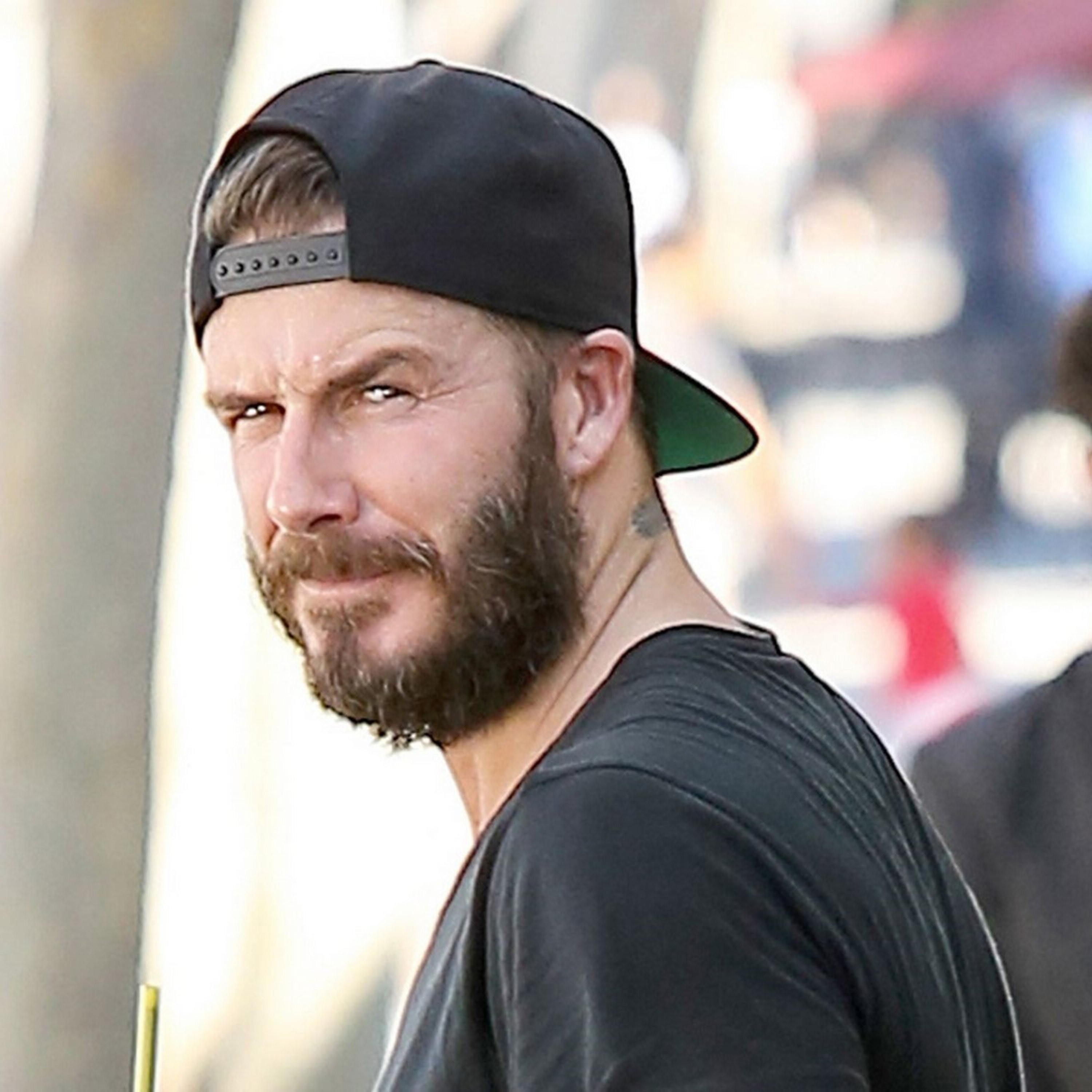 A famous full beard of David Beckhham.