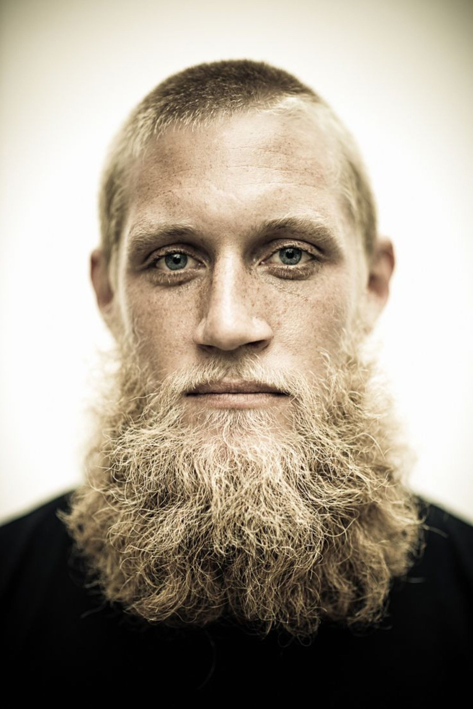 A full beard for men with blonde hair.