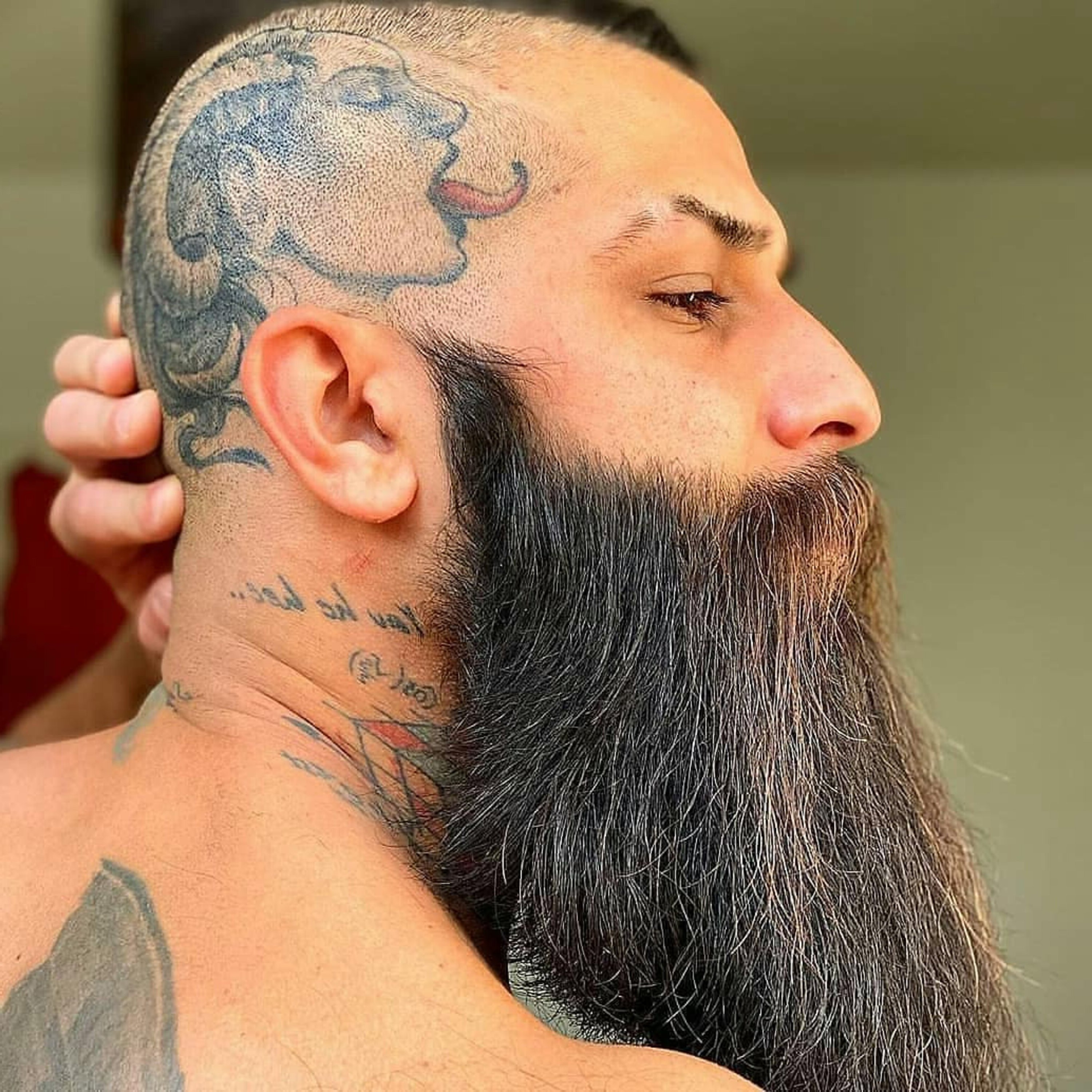 A full beard style for young guys.