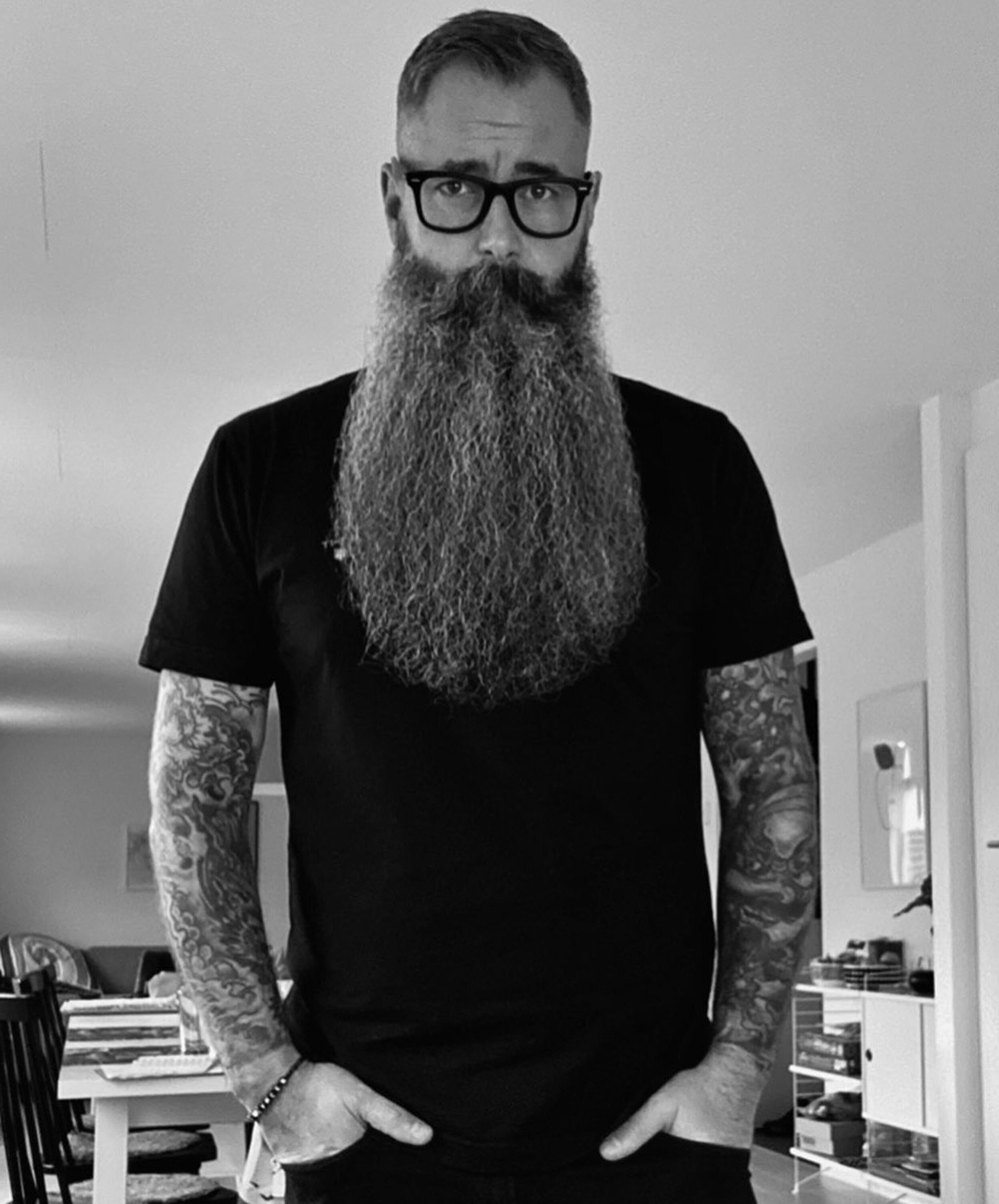 A full beard for sexy men.