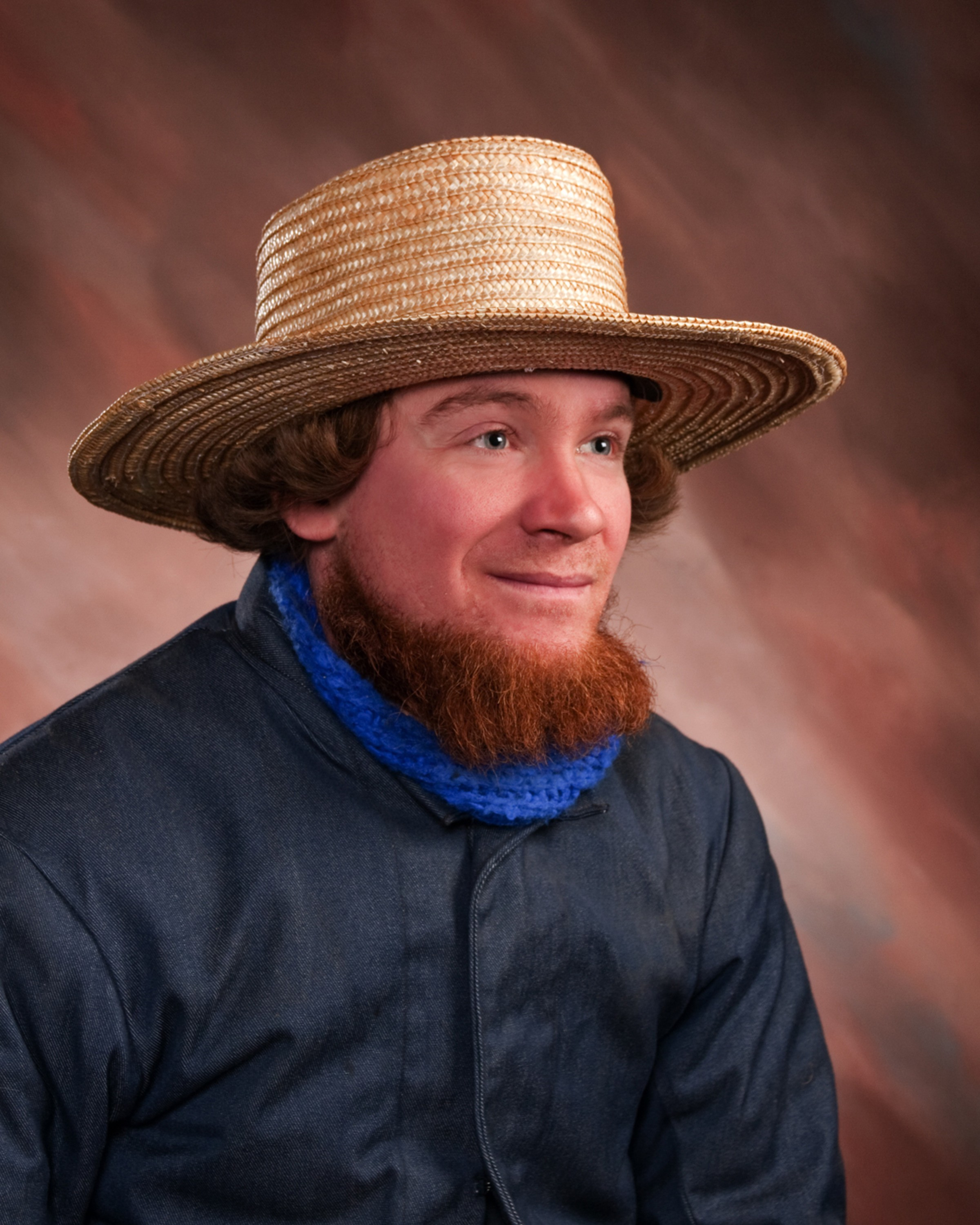 A short beard for Amish men.