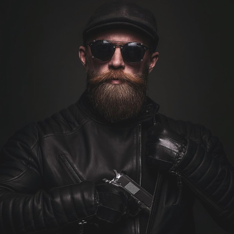 A short bushy beard style.