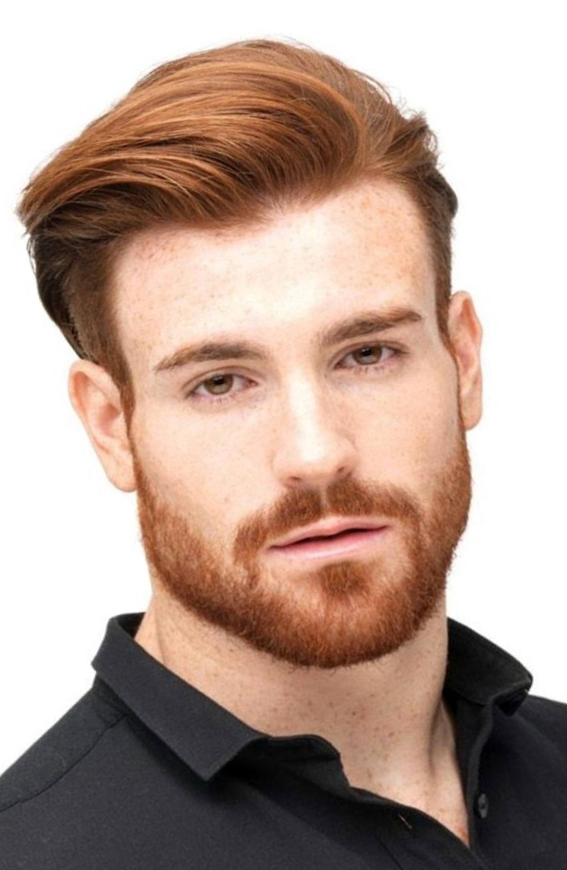 A short ginger beard for modern men.