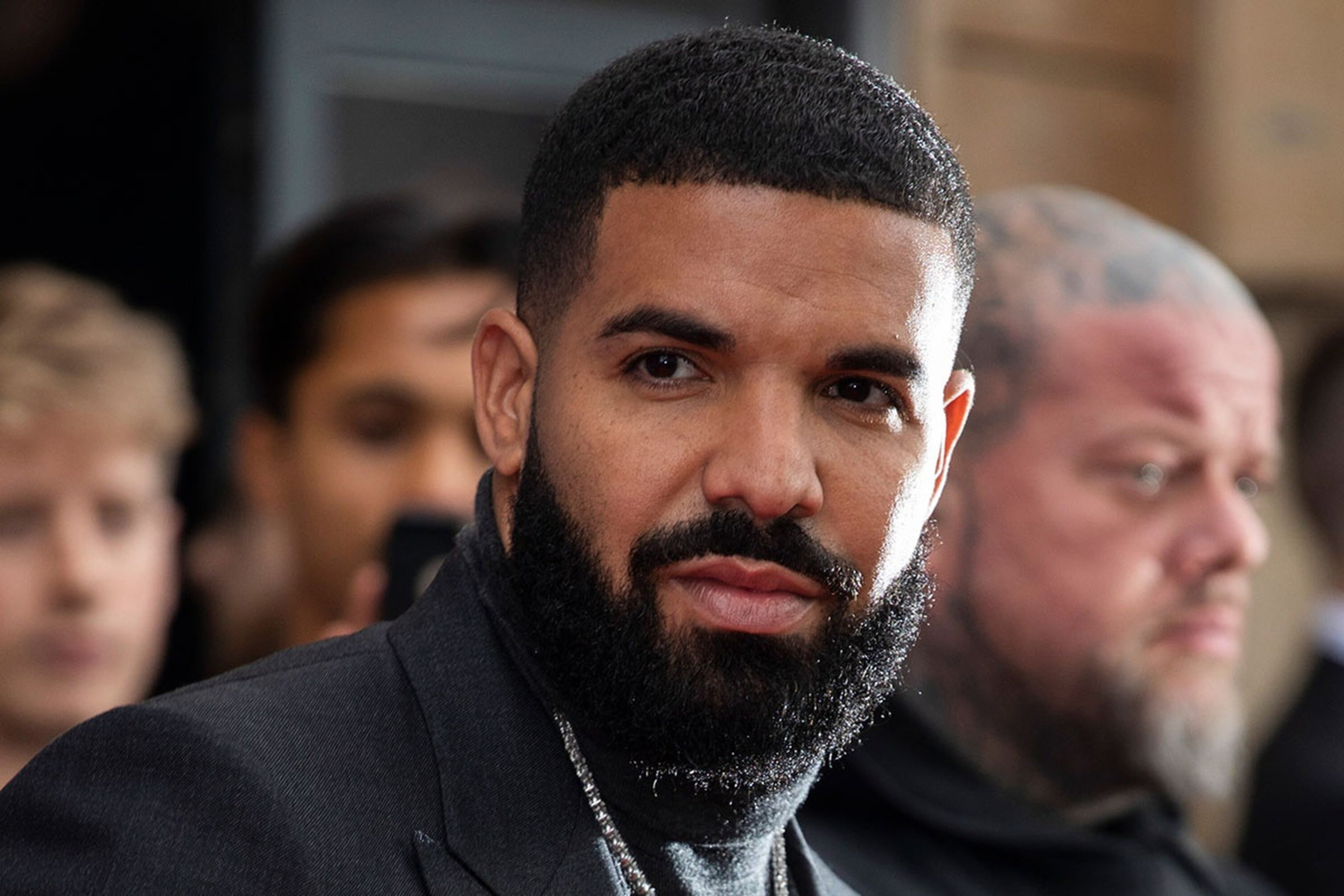 A full beard of Drake.