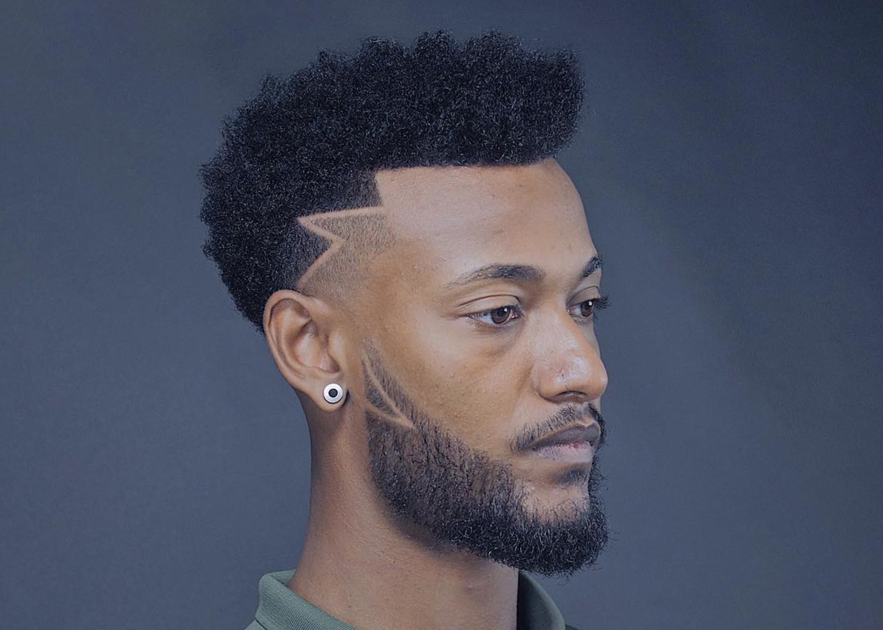 A faded style with a beard for black men.