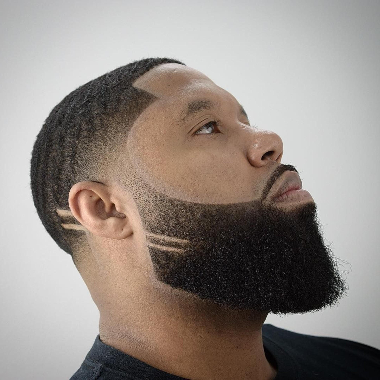A well-trimmed beard for black men.