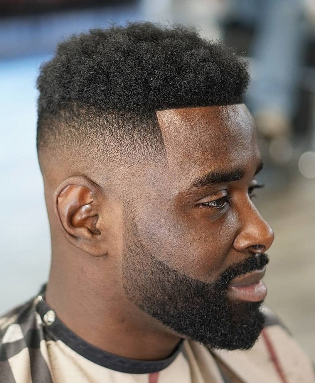 A neat beard for a black man.