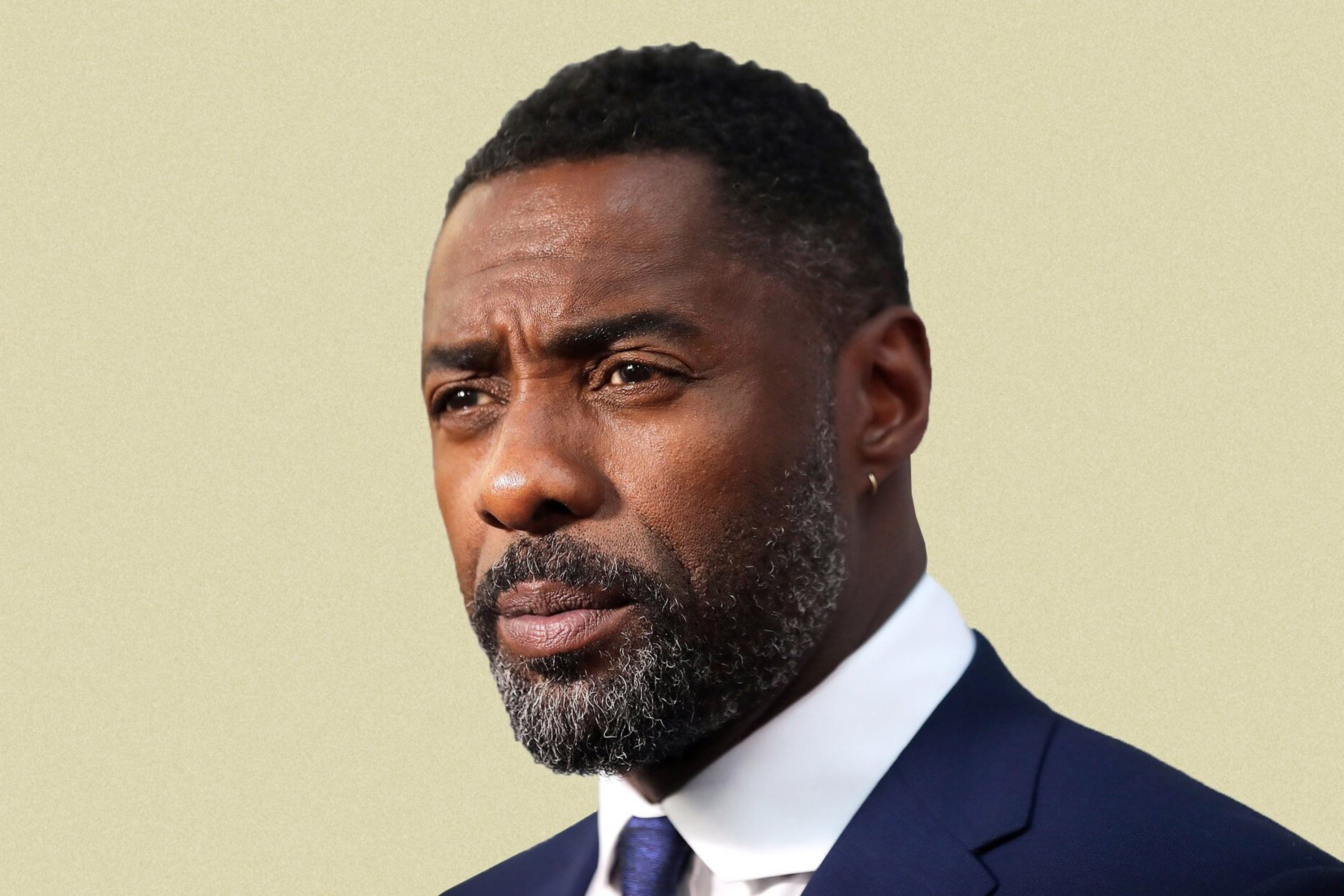 A well-known black man with a beard.