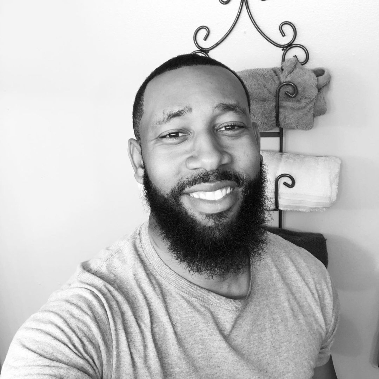 A good-looking black male beard.