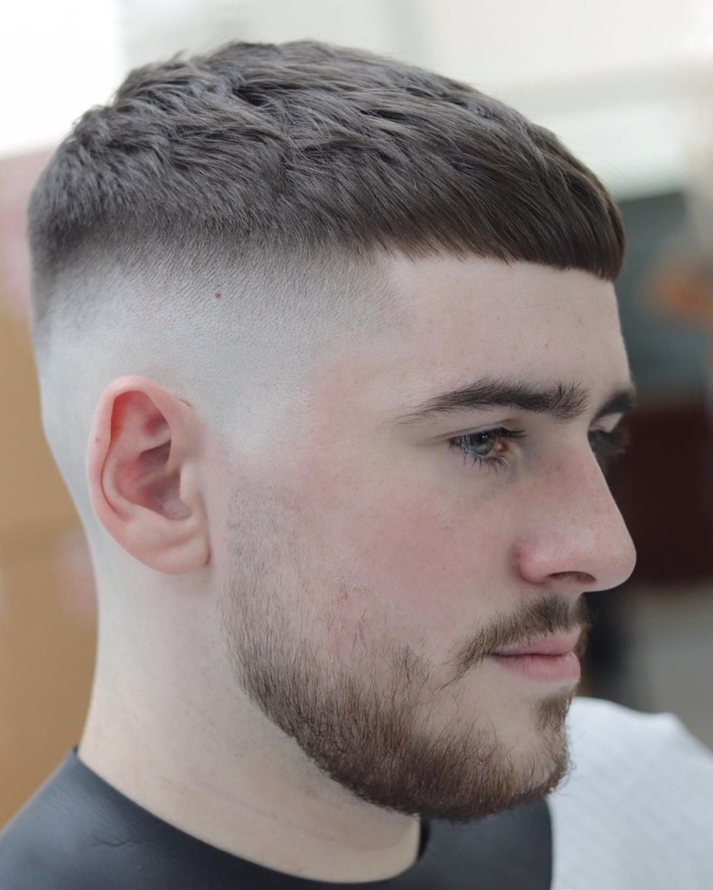 The French Crop short hairstyle for men.