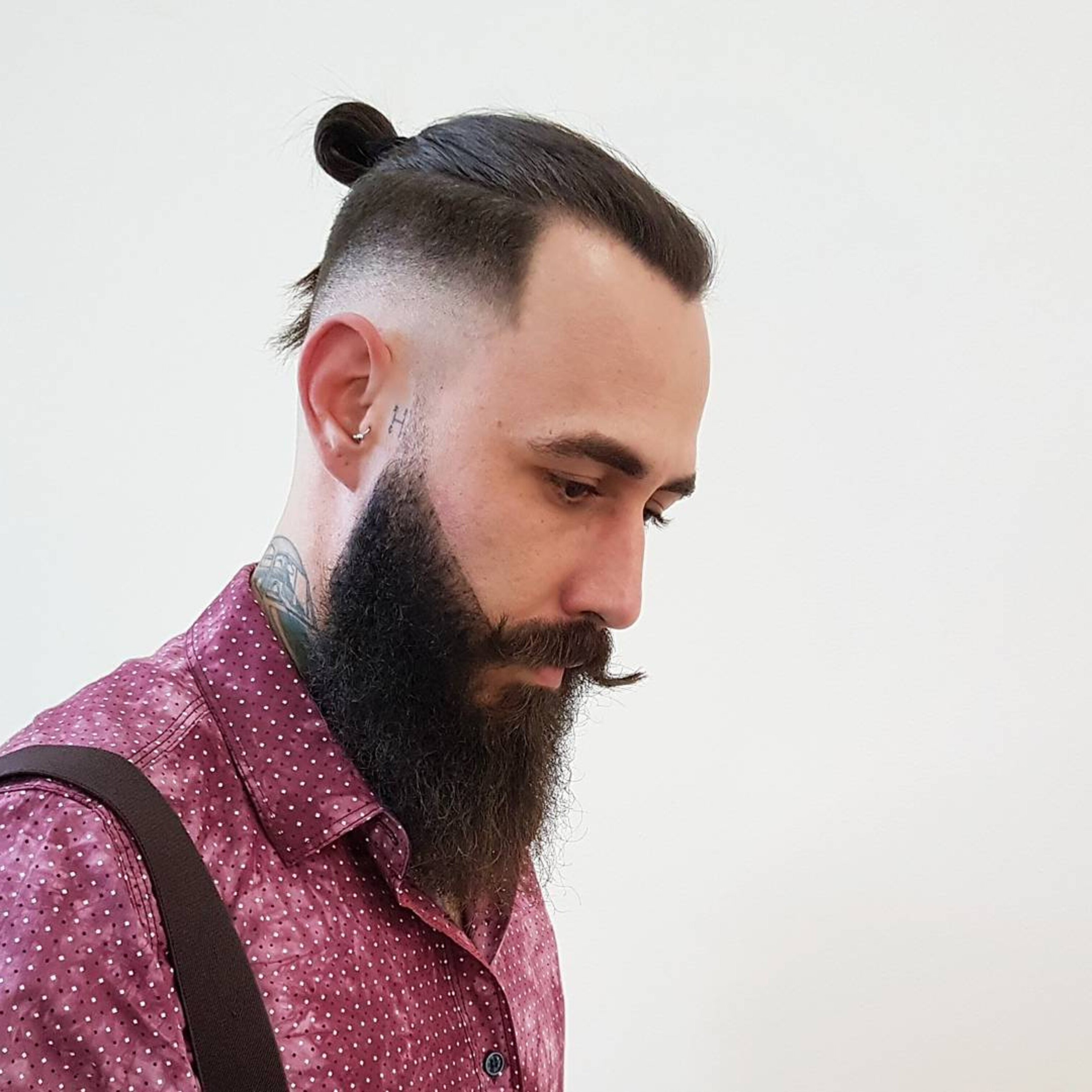 A hipster bun style for cool guys.