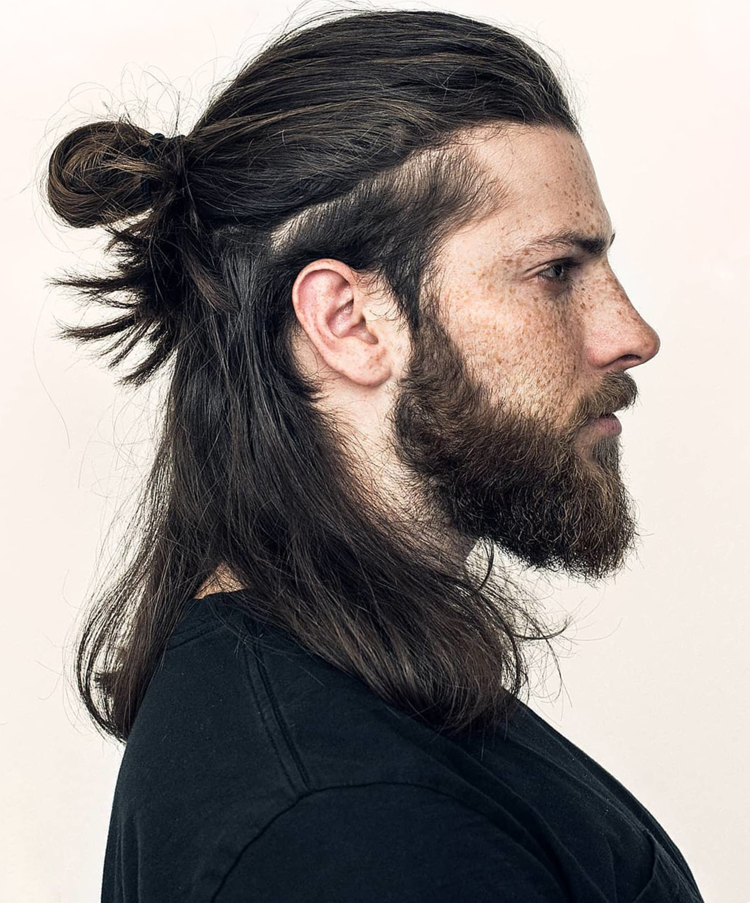 A cute male bun with a mullet.