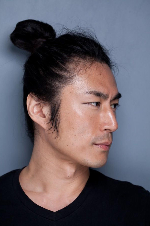 A man with the Samurai bun.